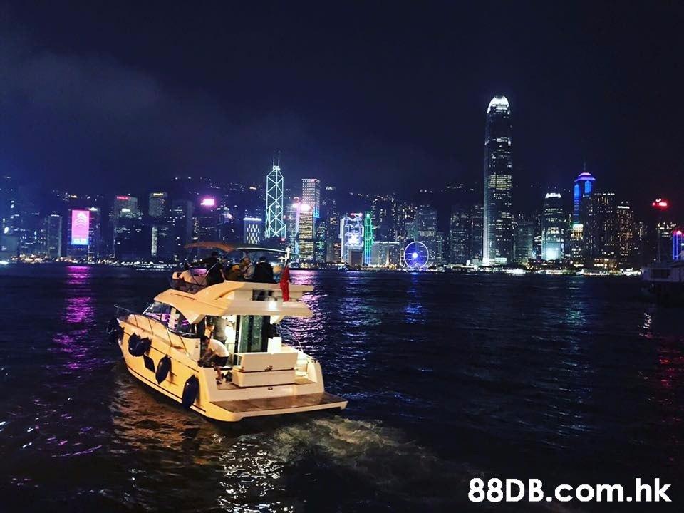 .hk  Water transportation,Sky,Night,City,Landmark
