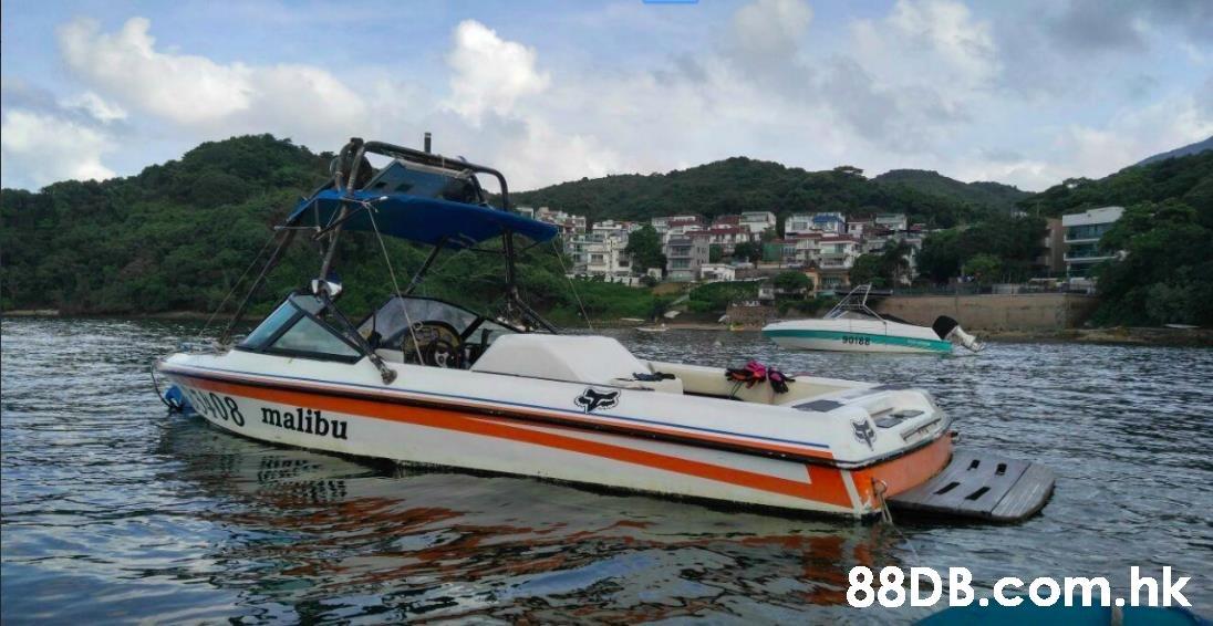 90188 08 malibu .hk  Vehicle,Water transportation,Speedboat,Boat,Boating
