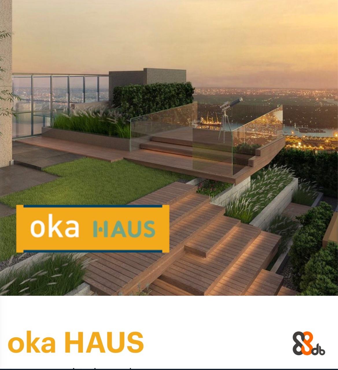 oka HAUS oka HAUS  Property,Roof,Grass,Architecture,Urban design