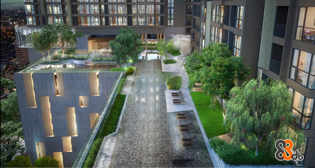Property,Condominium,Building,Walkway,Urban design