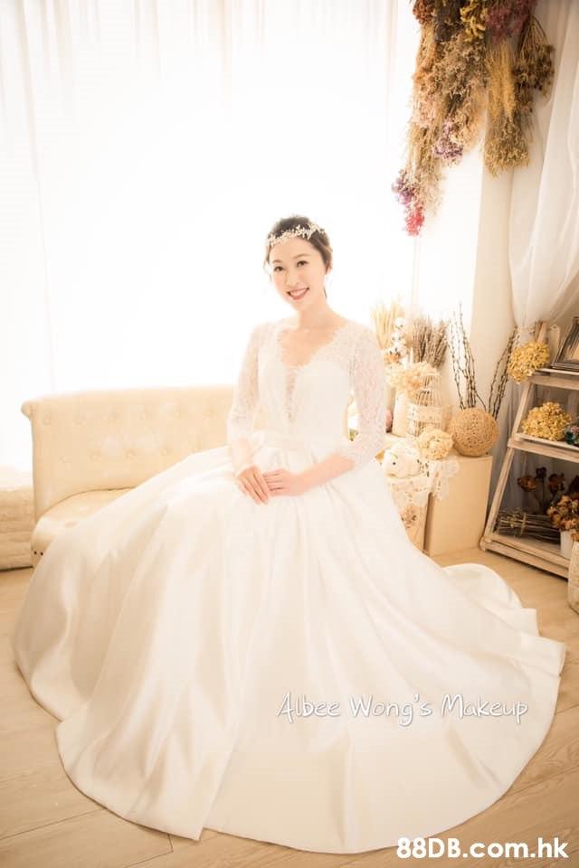 Abee Wong's Makeup .hk  Gown,Dress,Wedding dress,Clothing,Photograph