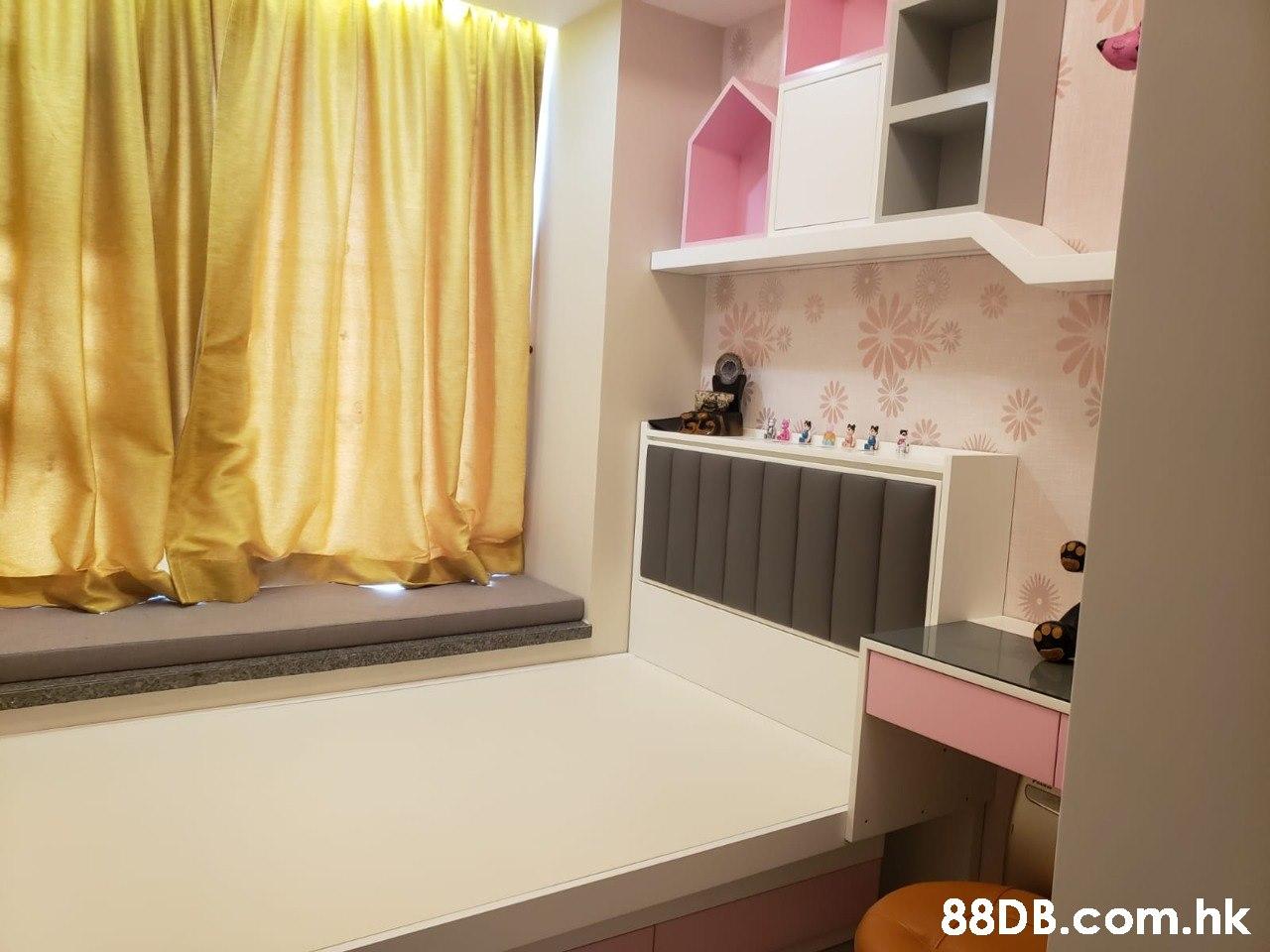 .hk  Property,Room,Interior design,Curtain,Pink
