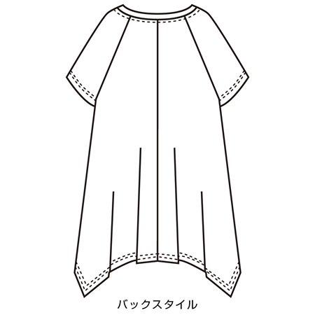 バックスタイル  Clothing,White,Sleeve,Dress,Pattern