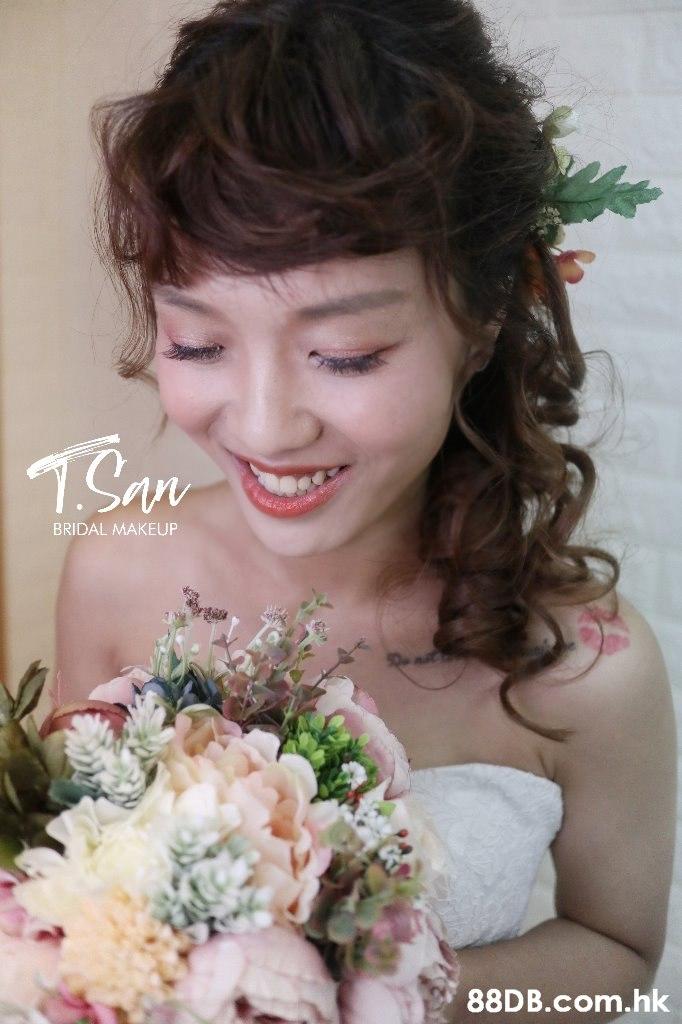 TSare BRIDAL MAKEUP .hk  Hair,Bouquet,Bride,Flower Arranging,Lady