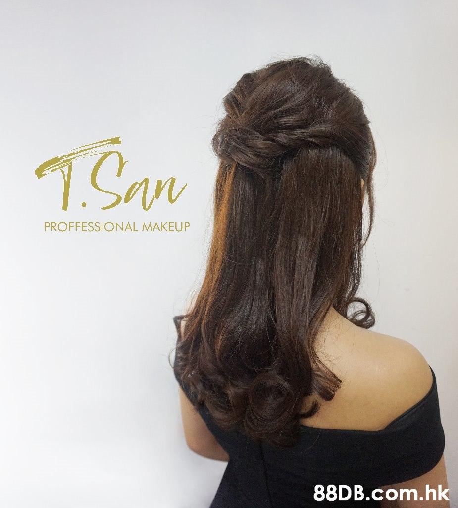1San PROFFESSIONAL MAKEUP .hk  Hair,Hairstyle,Long hair,Brown hair,Wig