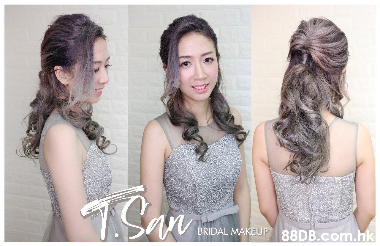 1San BRIDAL MAKEUP .hk  Hair,Photograph,Hairstyle,Dress,Beauty