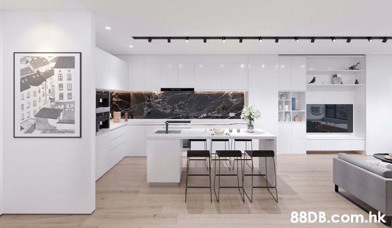 .hk  White,Interior design,Room,Property,Furniture