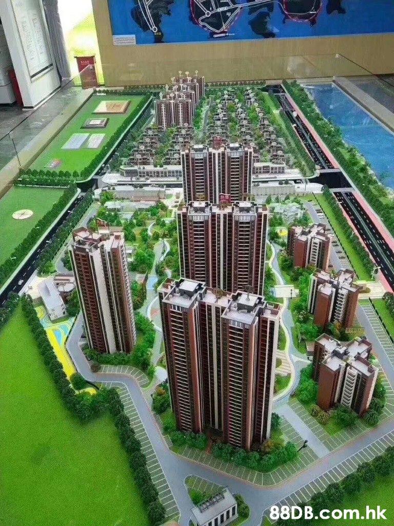 .hk  Scale model,Metropolitan area,Urban design,Landmark,Commercial building
