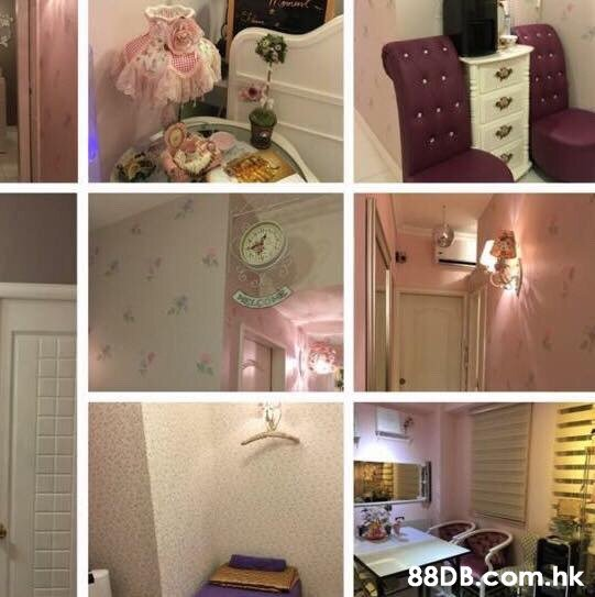 .hk  Room,Furniture,Pink,Interior design,Home