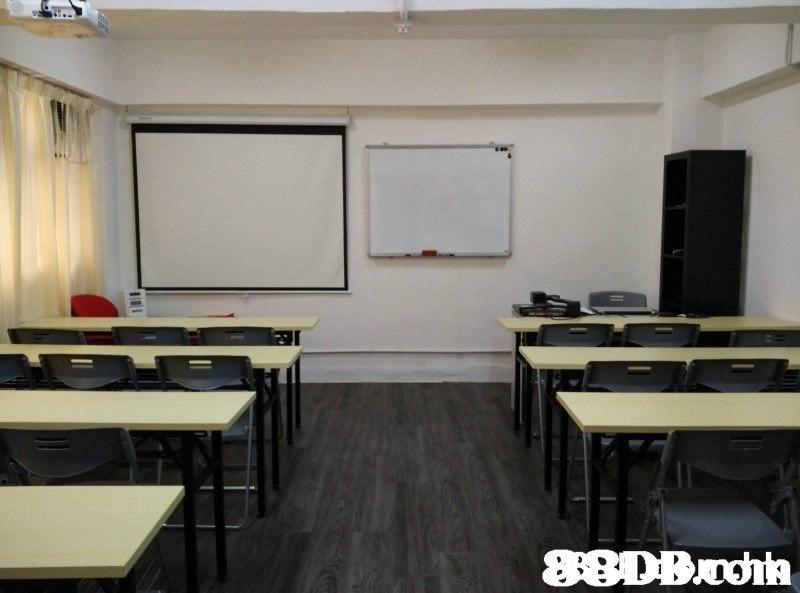 88DB.poh  Room,Classroom,Building,Interior design,Wall