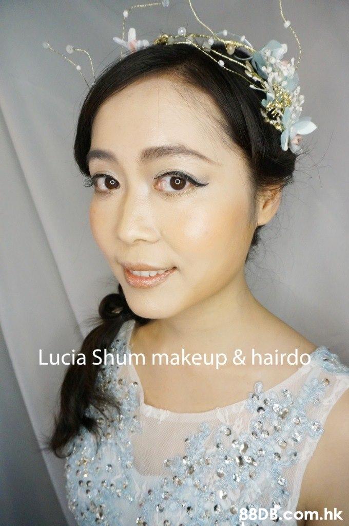 e Lucia Shum makeup & hairdo .hk  Hair,Headpiece,Hair accessory,Clothing,Forehead