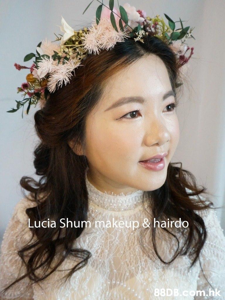 0C Lucia Shum makeup & hairdo 88D B.com.hk  Headpiece,Hair,Hair accessory,Crown,Clothing