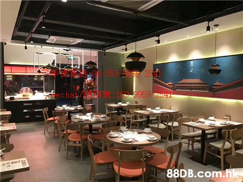 159 Apg9 254 echat/ :159 9959 T.hk  Restaurant,Fast food restaurant,Building,Food court,Interior design