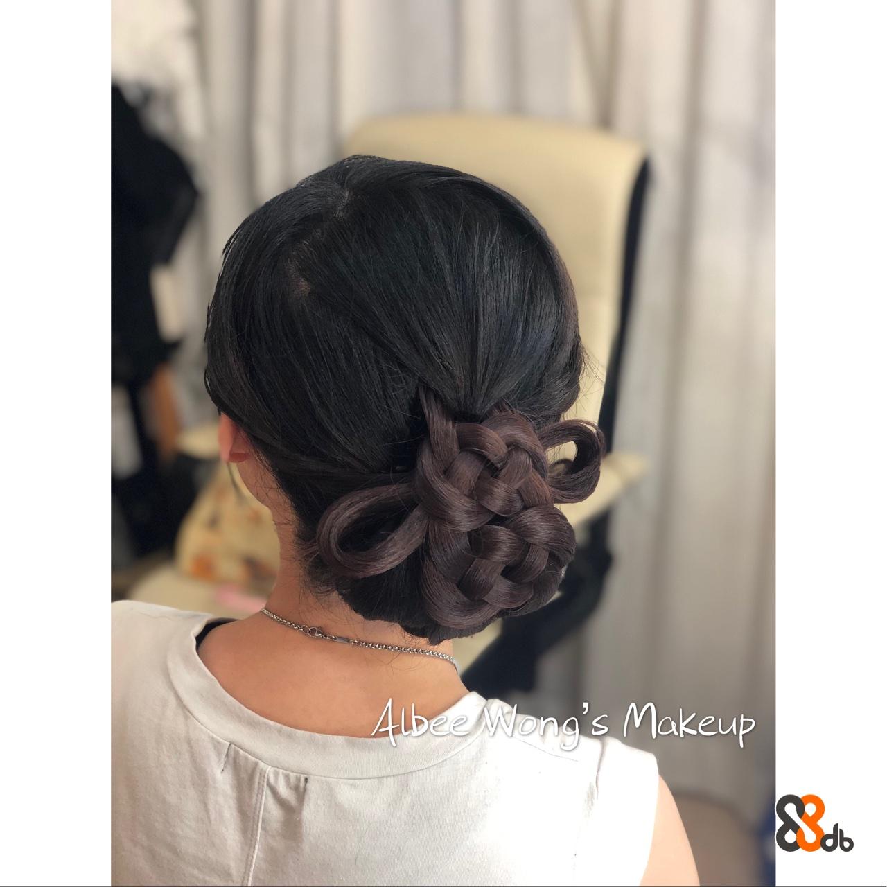 4bee Mong's Makeup  Hair,Hairstyle,Chignon,Bun,Black hair