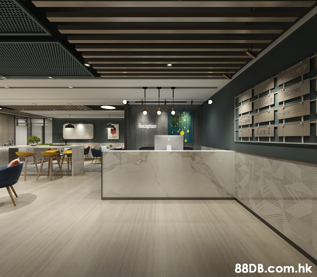APPALEFE EE Reception - CO.LTD .hk  Lobby,Architecture,Building,Interior design,Ceiling