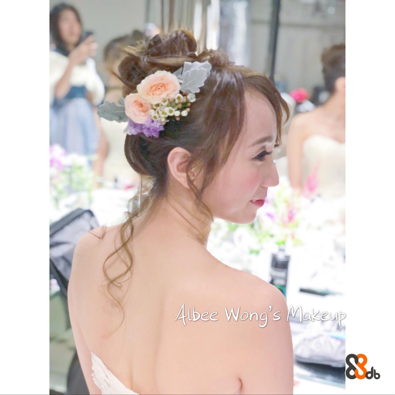 Albee Wong's Makeye  Hair,Headpiece,Hairstyle,Clothing,Hair accessory