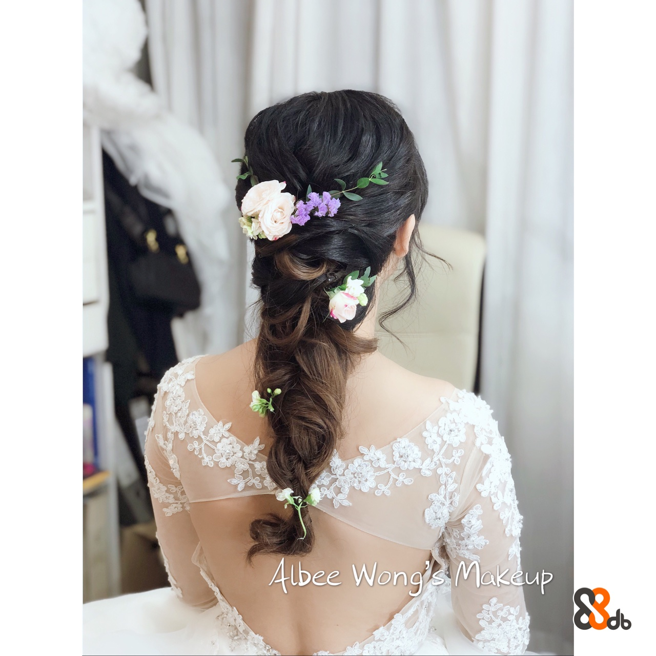4lbee Wong Makeup  Hair,Headpiece,Clothing,Hairstyle,Hair accessory