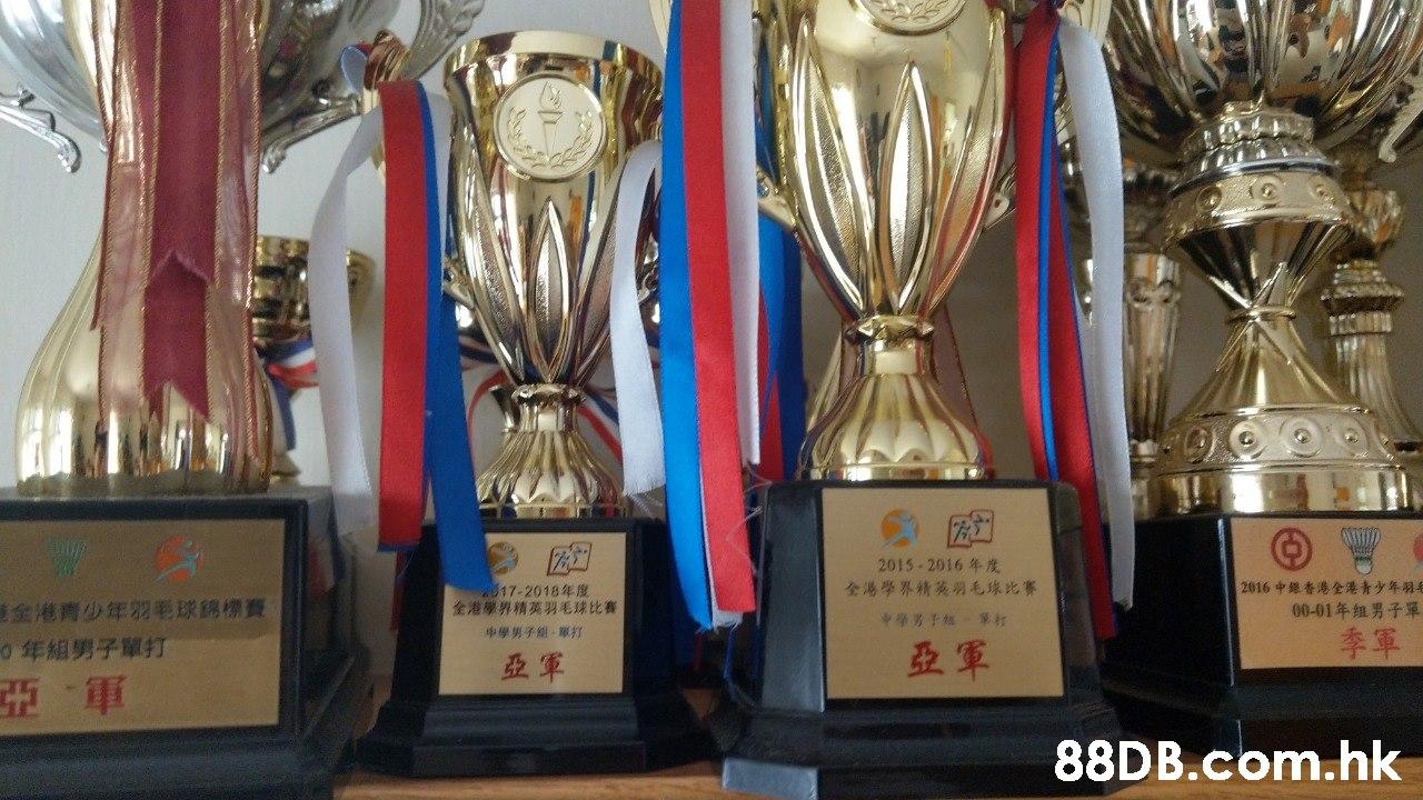 2015-2016年度 全港學界精英列毛球比賽 2016 中继香港全港青少年羽年 00-01年组男子單 2017-2018年度 全港學界精英男毛球比賽 中學男子組-單打 全港青少年羽毛球錦標賽 0年組男子單打 季軍 亞軍 亞軍 亞軍 .hk  Trophy,Award,