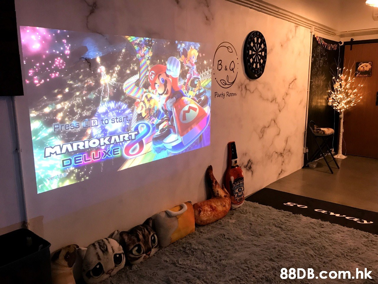 B&Q Party Room Press LR to start MARIOKART DELUXE Ver. 16.0 .hk  Wall,Art,Design,Technology,Visual arts