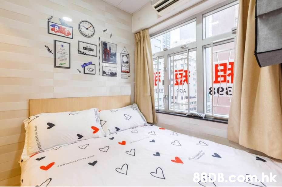 B e A CAEAT KING Aur DD ON WEONEseAYS W .hk  Room,Property,Bedroom,Interior design,Bed