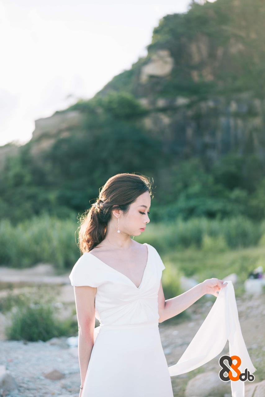 В  White,Photograph,Dress,Clothing,Shoulder