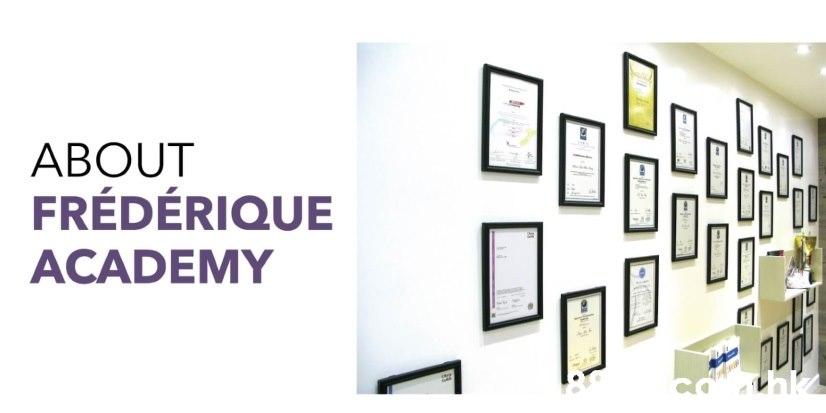 ABOUT FRÉDÉRIQUE ACADEMY COmak E  Text,Product,Font,Line,Graphic design