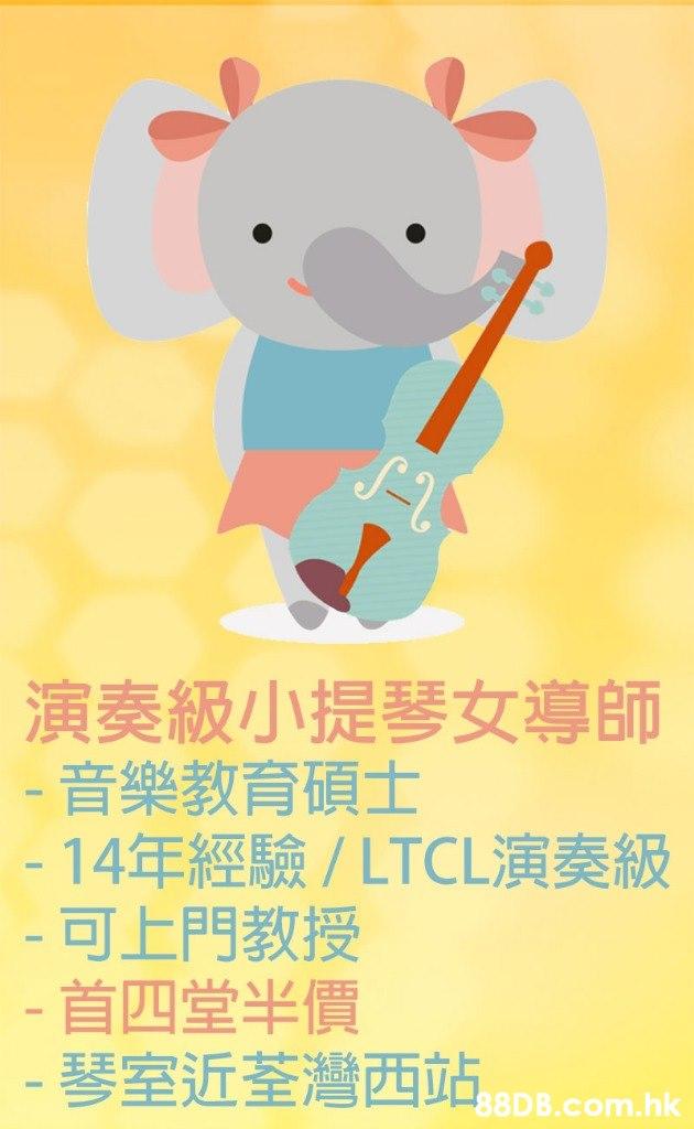 演奏級小提琴女導師 -音樂教育碩士 -14年經驗/ LTCL演奏級 -可上門教授 -首四堂半價 - 琴室近荃灣西站 .hk  Poster,Illustration,Font,