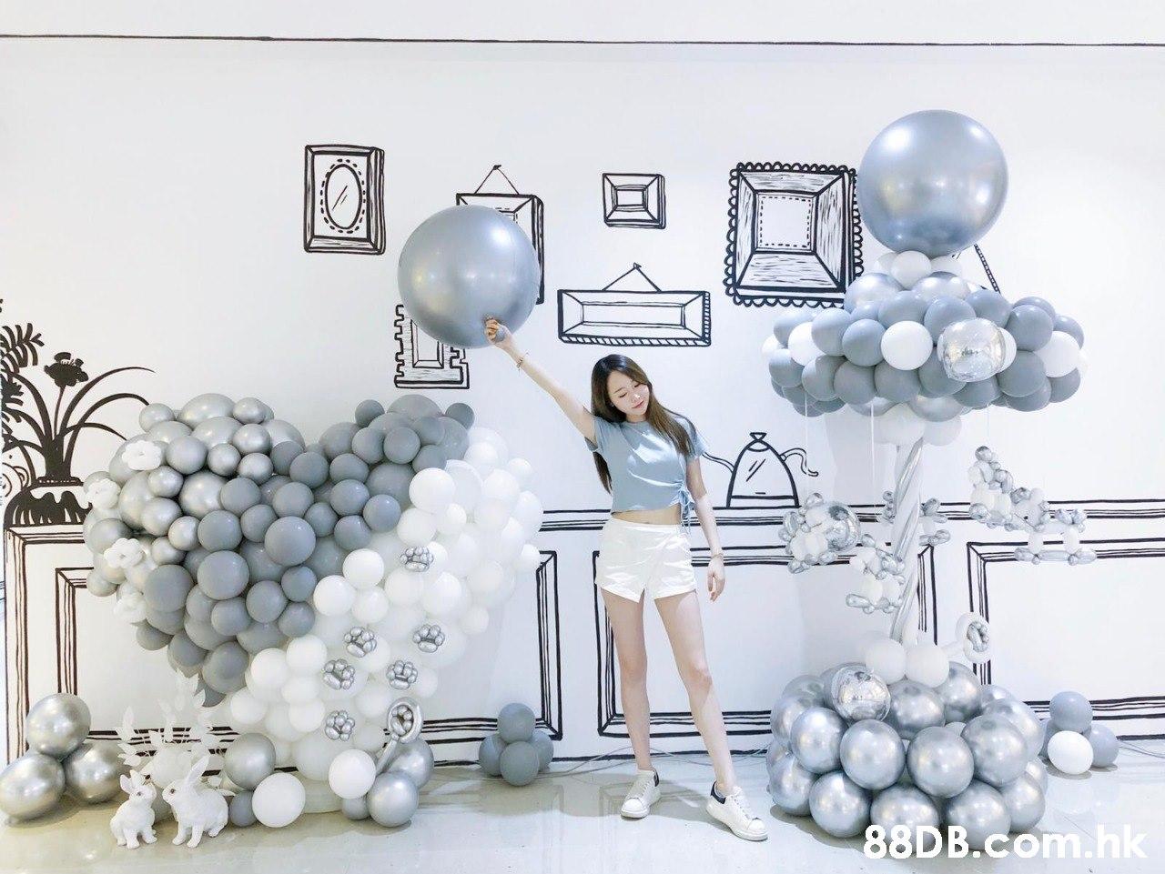 .hk  Balloon,White,Party supply,Architecture,Silver