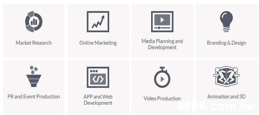 Media Planning and Development Online Marketing Market Research Branding & Design PR and Event Production Animation and 3D APP and Web Video Production Development  Text,Product,Font,Diagram,Line