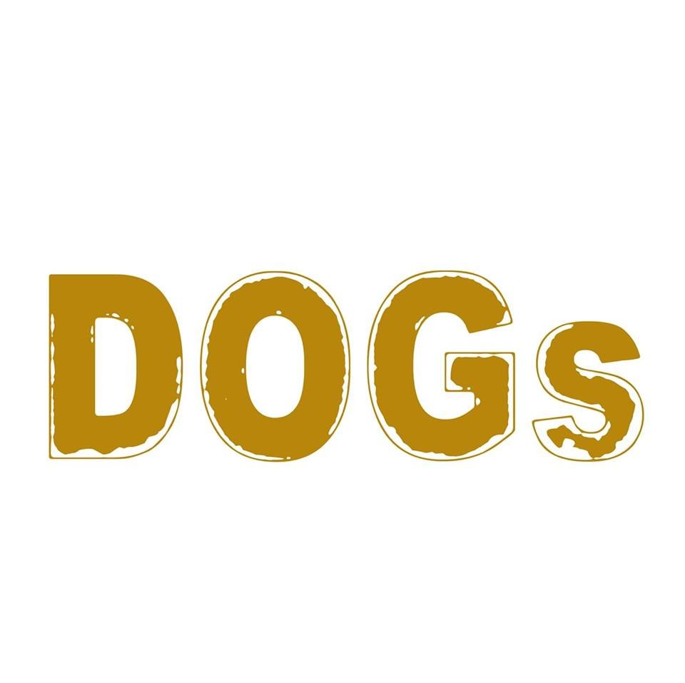 DOGS  Text,Font,Logo,Yellow,Brand