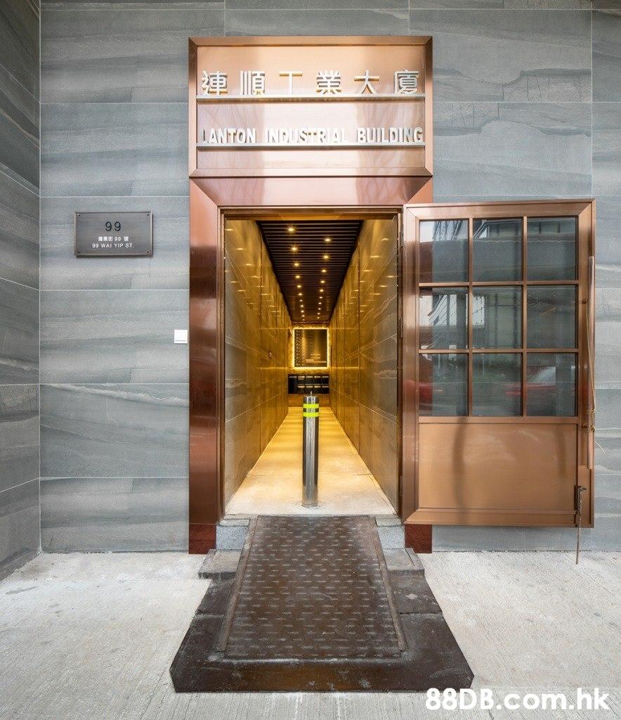 連順工業太廈 LANTON INDUSTRAL BUILDING 99 99 WAI YIP ST .hk  Building,Architecture,Interior design,Door,Lobby