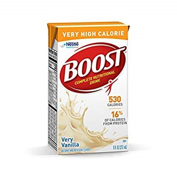 VERY HIGH CALORIE Nestio BOOST COMPLETE NUTRITONAL DRINK 530 CALORIES 16% OF CALORIES FROM PROTEIN Very Vanilla waOA  Product,Food,Ingredient,Lactose,Dairy