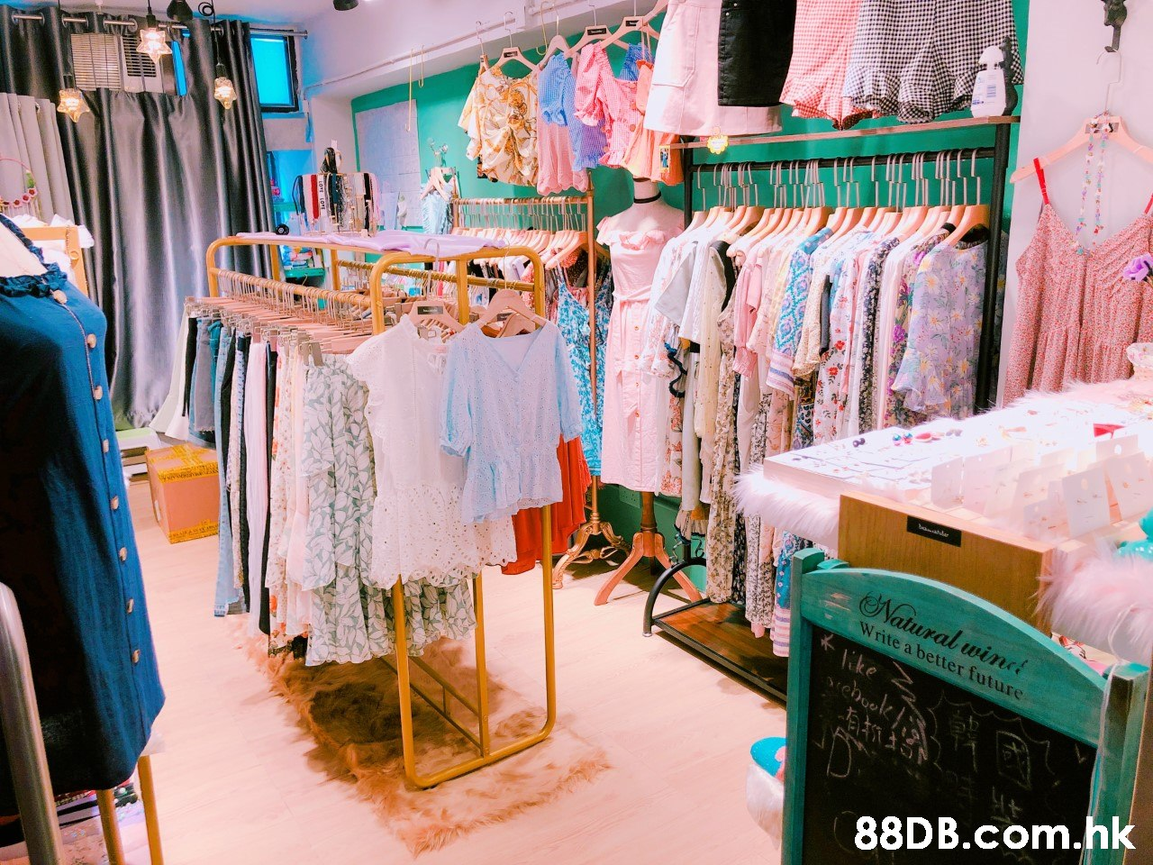 Natural winc Write a better future ike .hk  Boutique,Turquoise,Room,Textile,Dress
