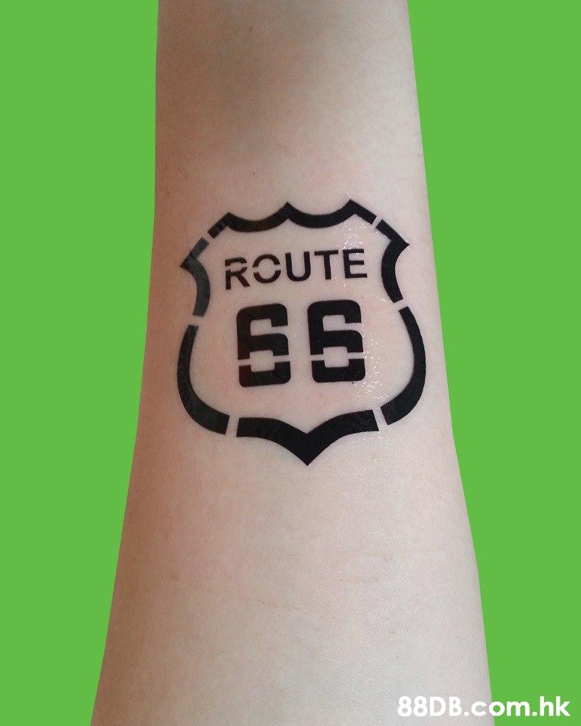 ROUTE (65 .hk  Temporary tattoo,Wrist,Tattoo,Arm,Font