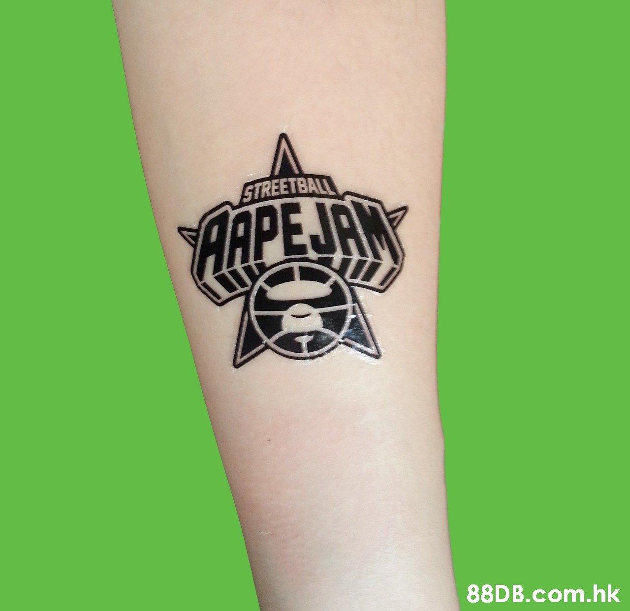 STREETBALL APEJAN .hk  Temporary tattoo,Tattoo,Arm,Font,Hand