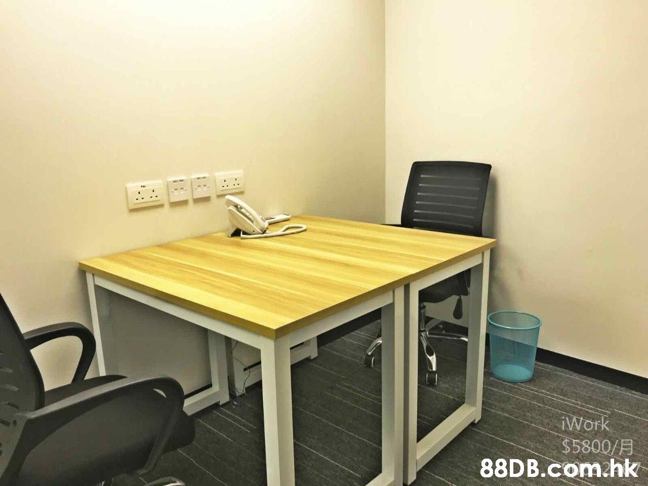 iWork $5800/H .hk  Furniture,Desk,Table,Property,Room