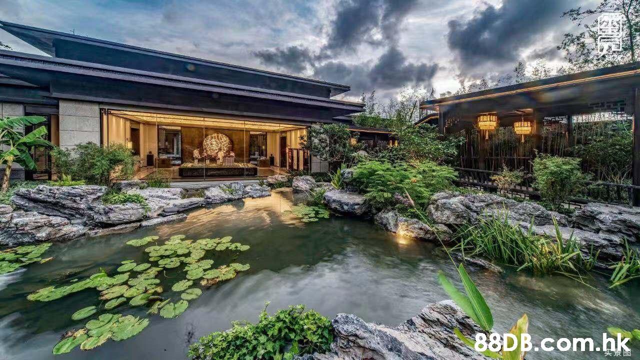 .hk 头京图  Natural landscape,Nature,Property,Pond,Real estate