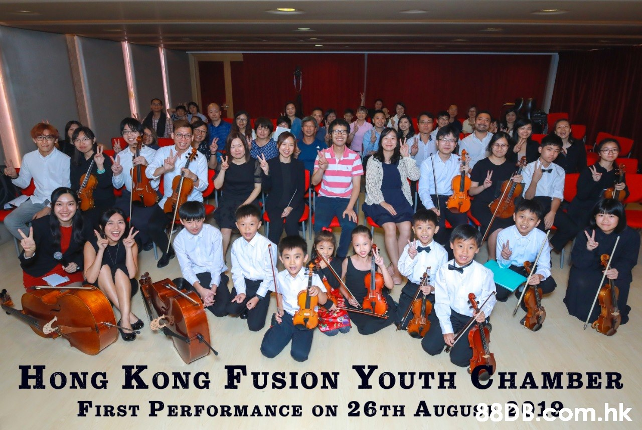 HONG KONG FUSION YOUTH CHAMBER FIRST PERFORMANCE ON 26TH AUGU};} 2B1om.hk  Social group,String instrument,Musical instrument,Event,Youth