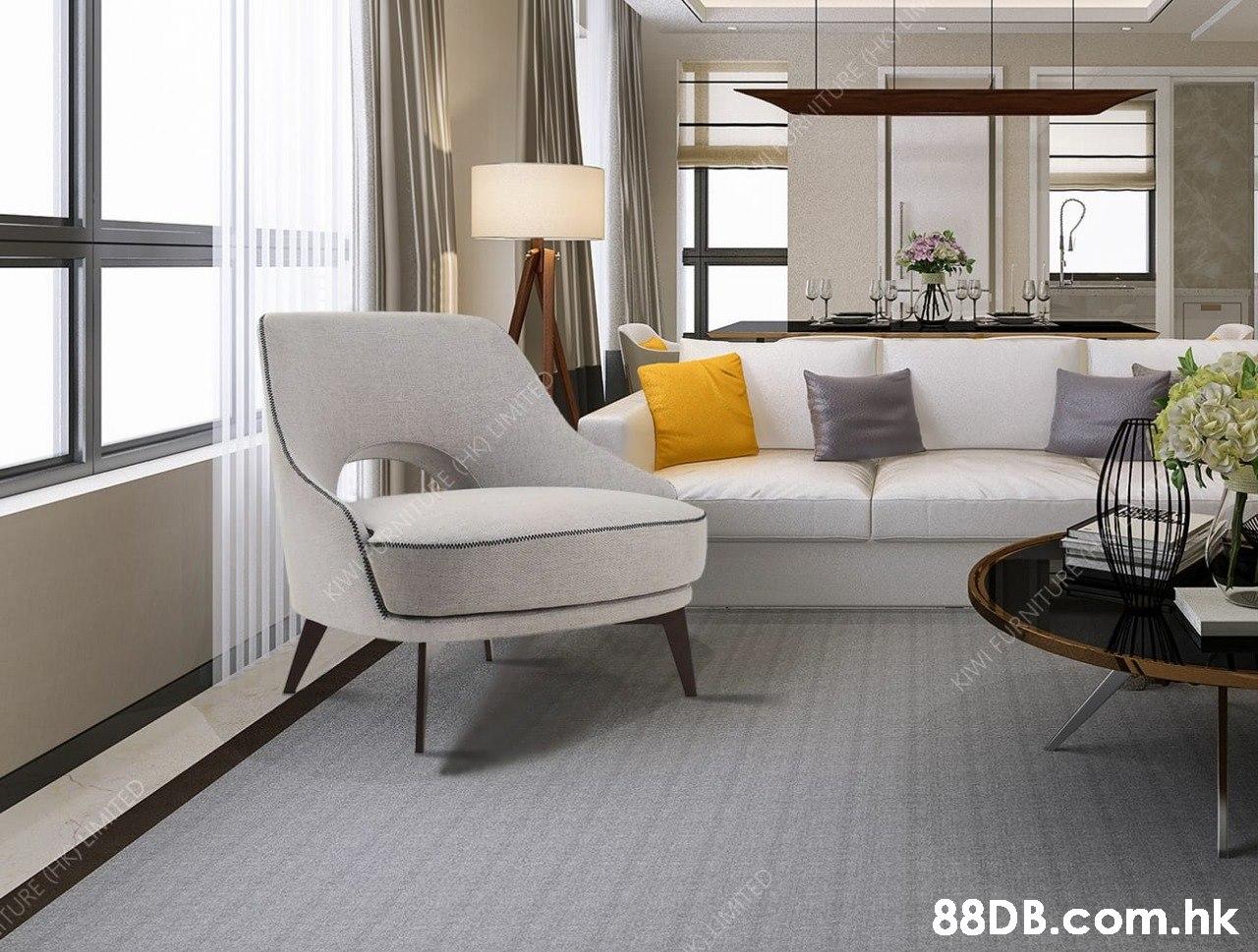 TORE (HA KIWN E (HK) LIMITED oATED .hk YURE (H) EIMITED KIWI FURNITURA  Living room,Room,Furniture,Interior design,Floor