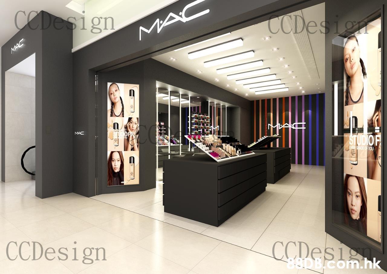 CODesign CCDesign MAC MAC MAC STUDIOF EVEYSHADE OF YOU CCDesign CCDES1 aDB.com.hk  Interior design,Building,Boutique,Ceiling,Product