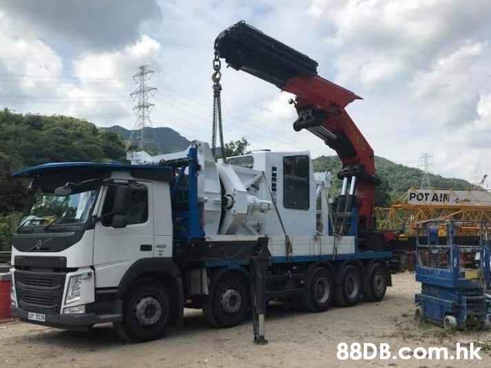 POT AIN UY 555 .hk  Land vehicle,Vehicle,Transport,Crane,Truck