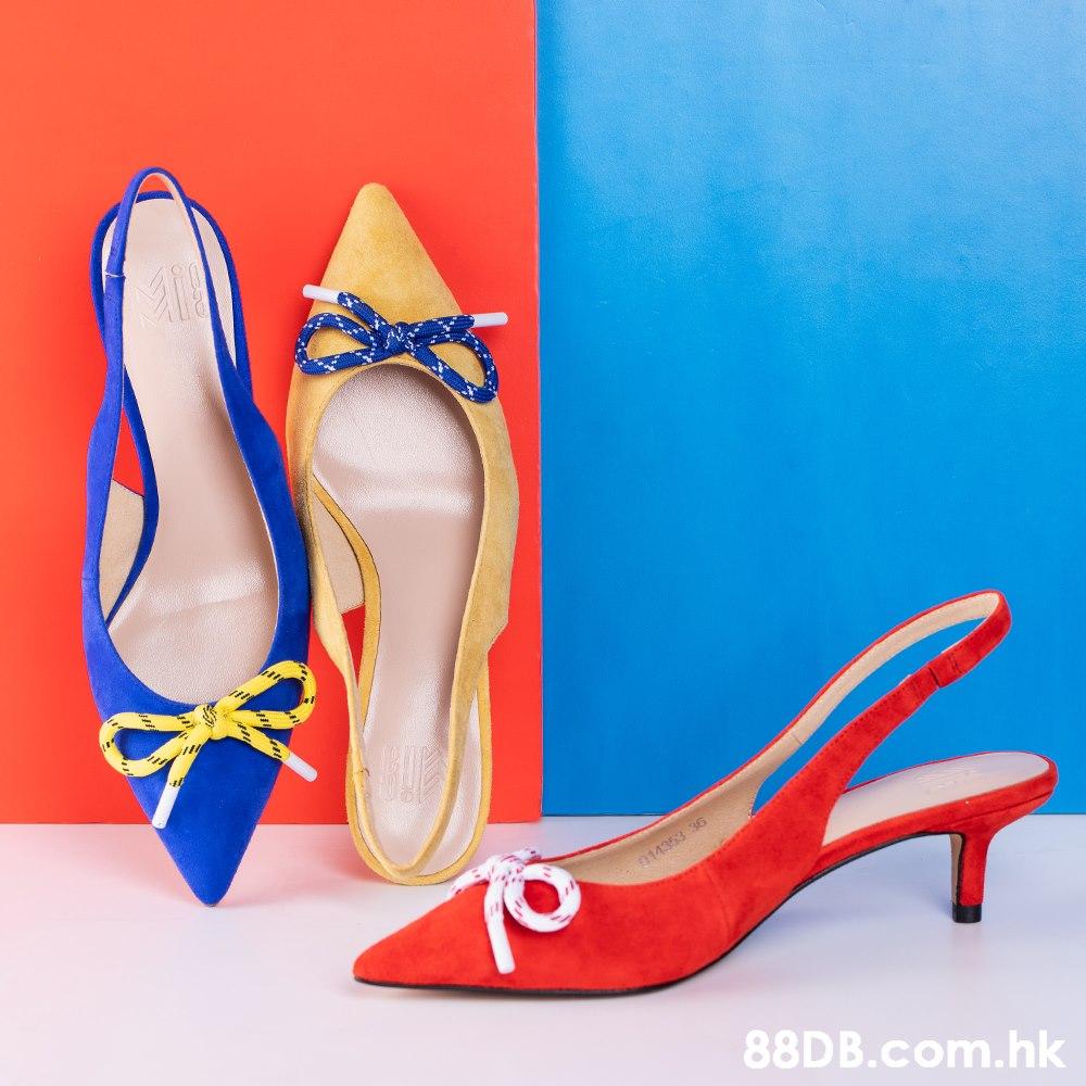 014353 36 .hk  Footwear,High heels,Basic pump,Blue,Red