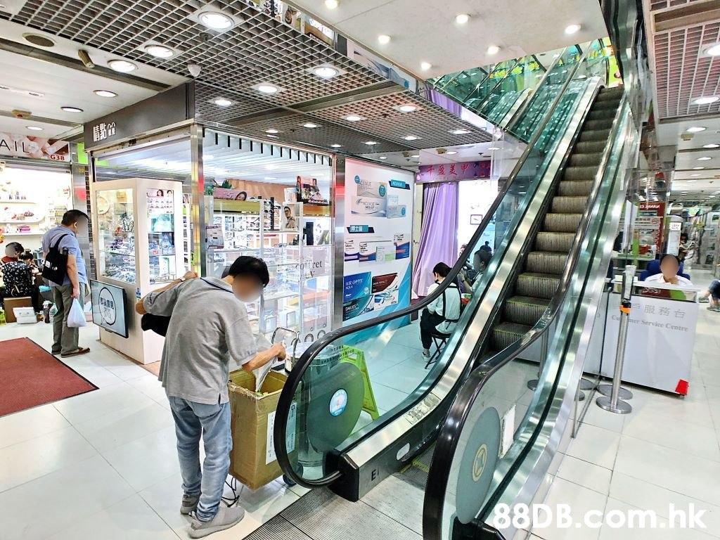 ret AROH 服務白 Service Centre El .hk  Escalator,Shopping mall,Building,Design,Architecture
