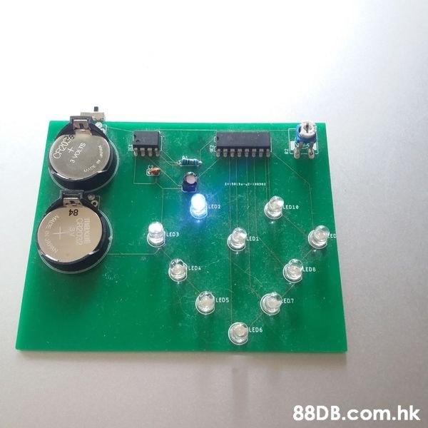 ALED2 LEO10 LED3 ED LED1 LEDA AEDB LEDS E07 LE06 .hk GR2032 3 VOLTS డి MAE  Green,Electronics,Technology,Games,Sensor