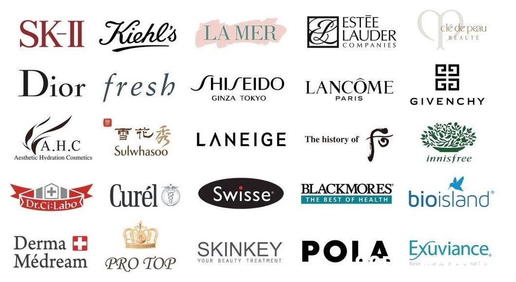ESTĒE LAUDER SKI Kiehl's LÀ MER clé de peau BEAUTĖ COMPA NIES Dior fresh SHISEIDO LANCÔME GINZA TOKYO PARIS GIVENCHY (AH.C LANEIGE The history of Sulwhasoo Aesthetic Hydration Cosmetics innisfree A Curélo BLACKMORES Swisse bioisland THE BEST OF HEALTH Dr.Ci:Labo Derma + Médream PRO TOP SKINKEY POI. A Exuviance. YOUR BEAUTY TREATMENT Reve e il tat !  Text,Font,Line