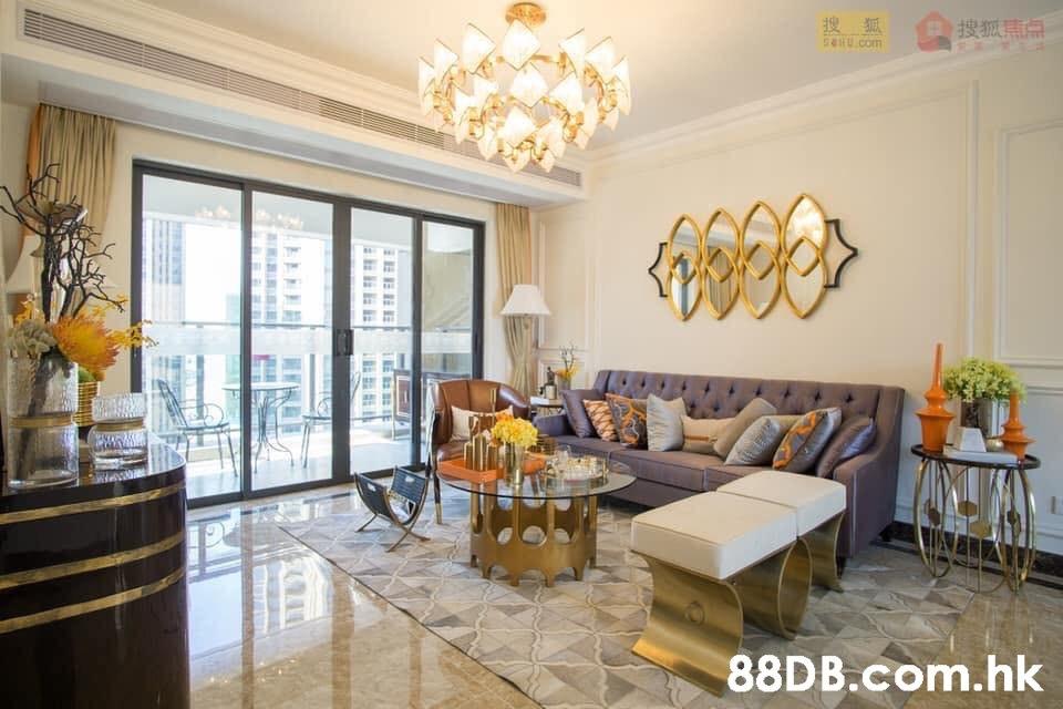 搜狐焦点 5HU.com .hk  Room,Property,Interior design,Living room,Building