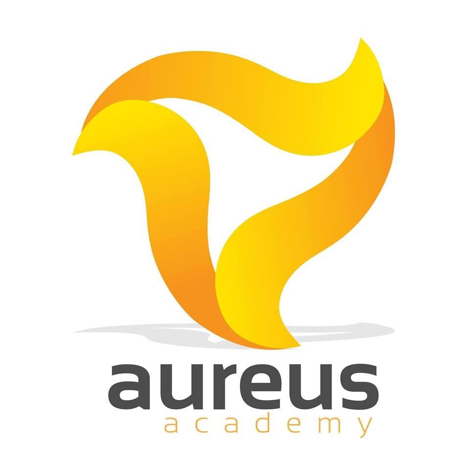 aureus academy  Logo,Font,Yellow,Brand,Line