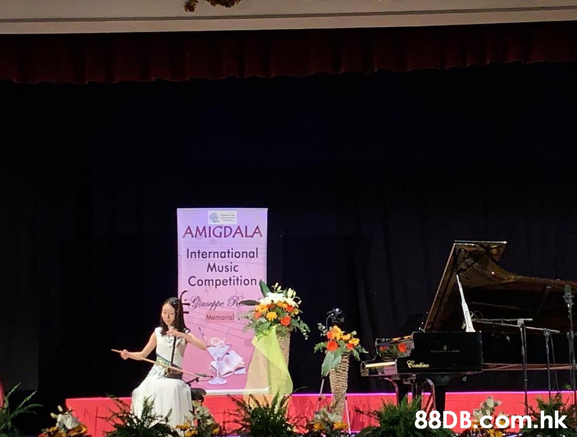 AMIGDALA International Music Competition. Gastppe Ra Memorial Contino .hk  Stage,Recital,Event,Pink,Performance