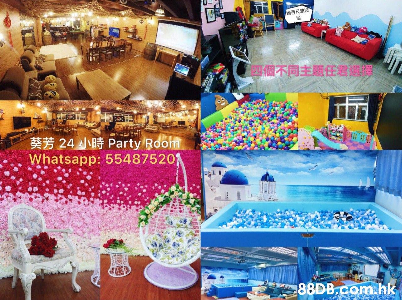 過百尺波波 池 四個不同主題任君選擇 葵芳24 小時Party Room Whatsapp: 55487520 .hk  Balloon,Font,Textile,Toy,