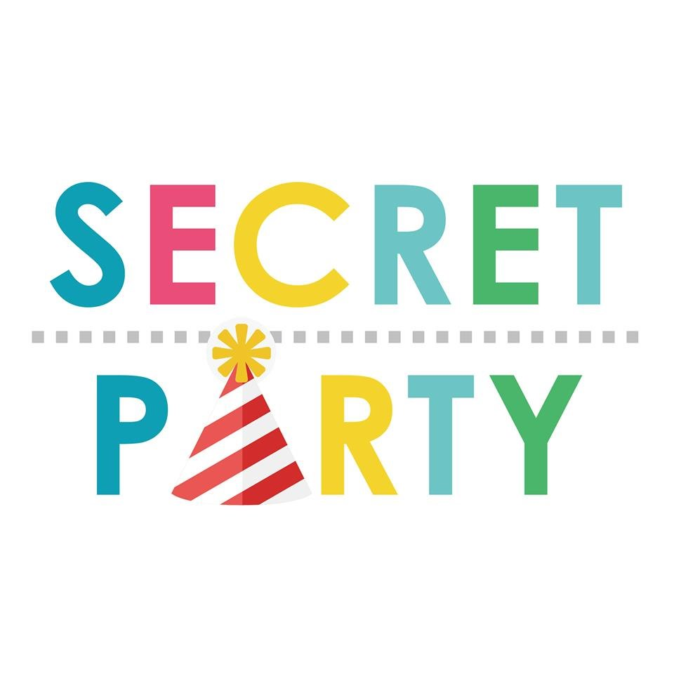 SECRET PERTY 1.  Text,Font,Logo,Line,Brand